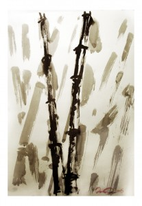 Bambuskogen. David Öqvist Tusch på papper 2005.